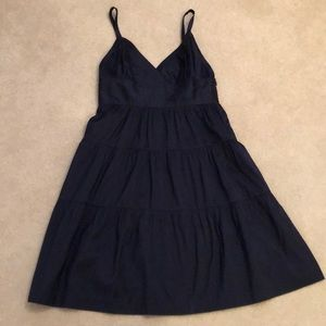Theory ruffle dress in Navy
